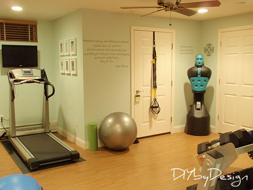 Diy by design home gym reveal and giveaway for Gym room ideas