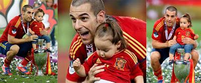 Álvaro Negredo y su niña Aitana
