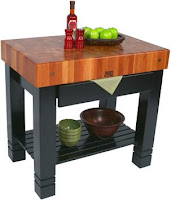 John Boos Cherry Block de Foyer w/Black Base 