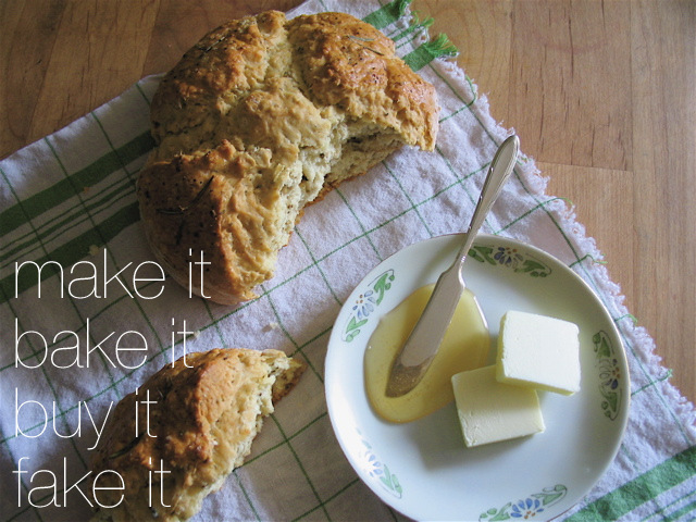 Rosemary and Browned Butter Soda Bread