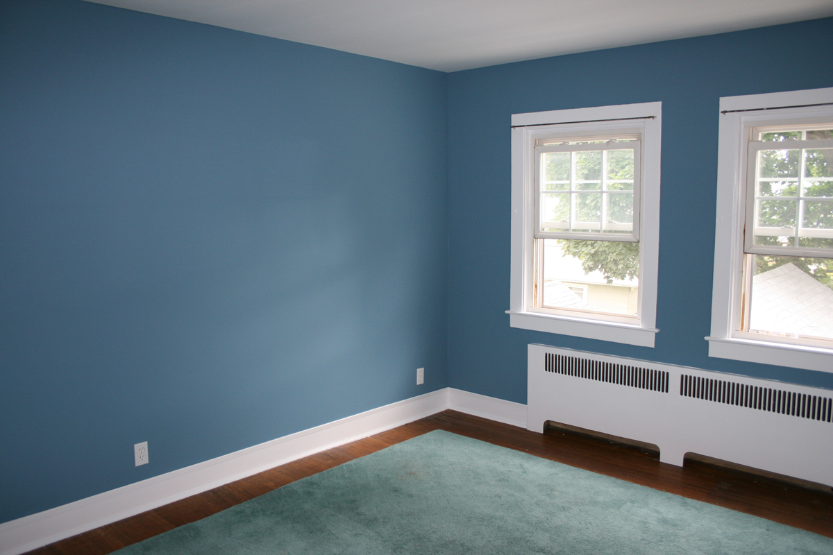 My fantasy home blue accent wall for Home wall paint colour