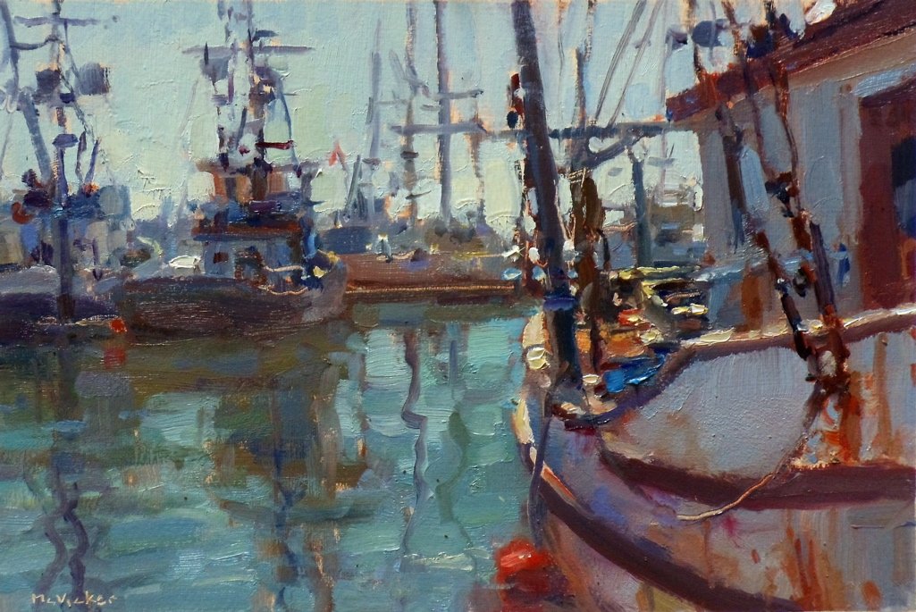 Lost coast daily painters fishing boats by jim mcvicker for Fishing boat painting