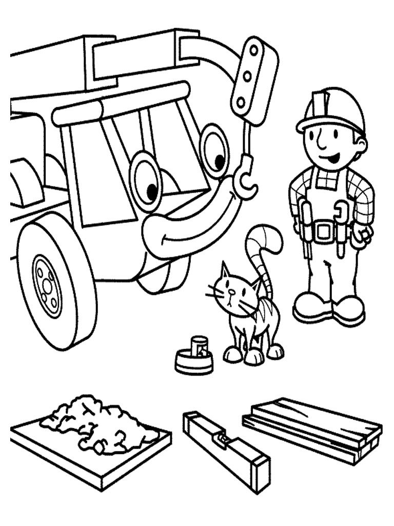 Bob the builder coloring pages realistic coloring pages for Bob the builder coloring page