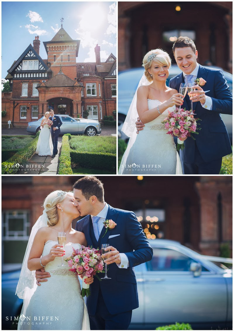 Woodlands Park wedding bride and groom