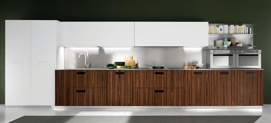 Cocinas lineales la combinación de colores  Cocinas con estilo