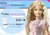 Diseñar vestidos y ropa para Barbie