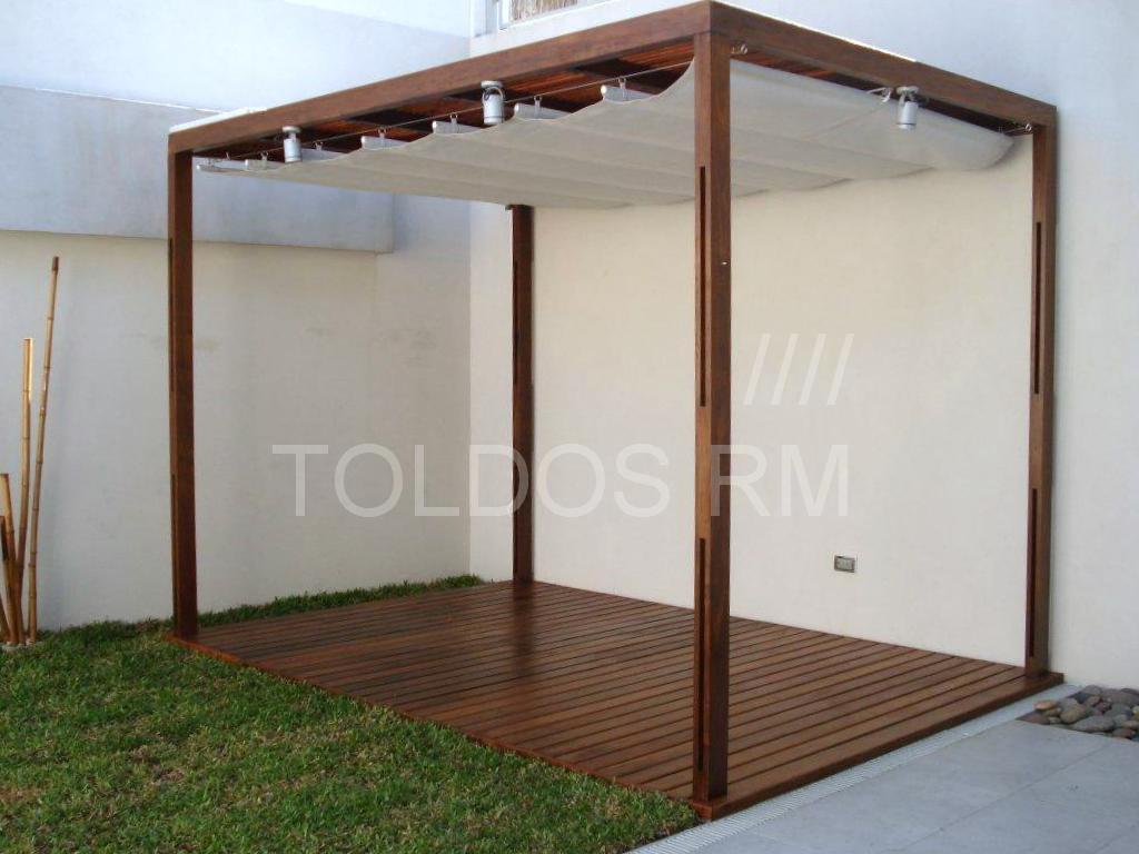 Toldo tipo cortina romana toldos rm - Toldos de patio ...