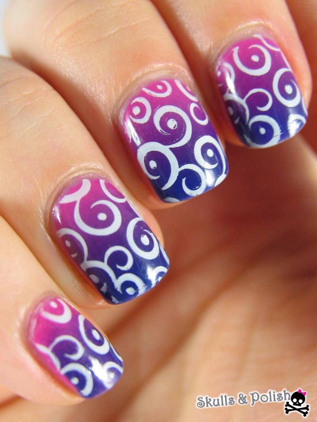 gradient_nails_brasil_essence_stamping_pueen46_pueen_love_elements