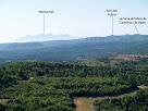 La zona de Montserrat des de Sant Genís