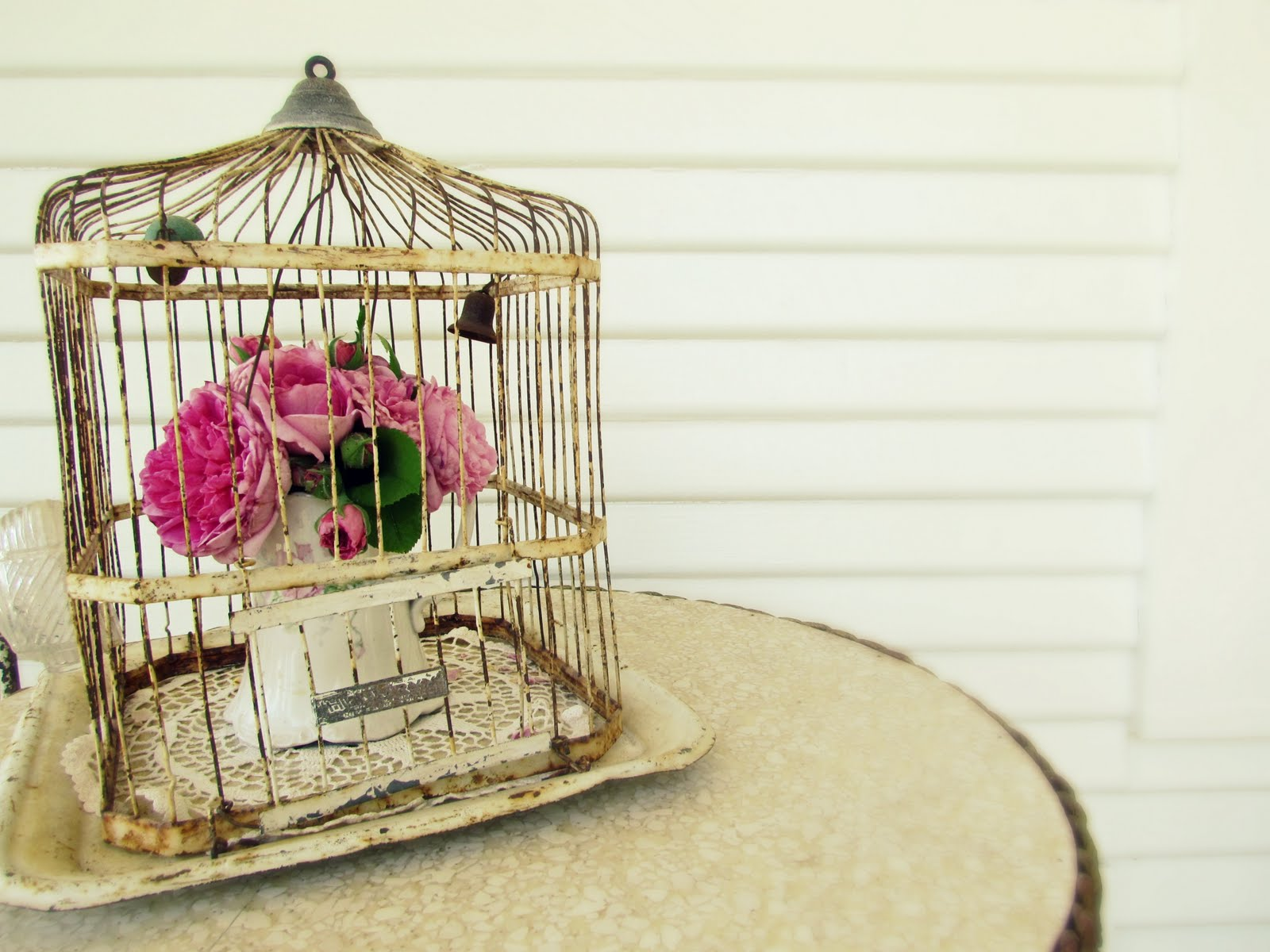 Romantic bird cage