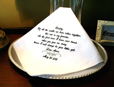 Father of the Bride Handkerchief - Wedding Hanky Hankie