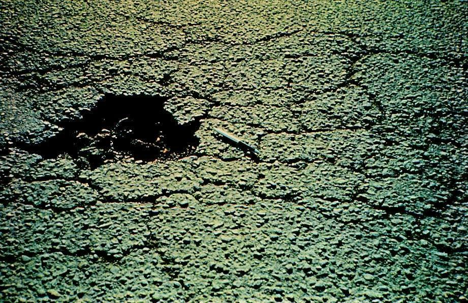 alligator cracking Alligator or fatigue cracking is a series of interconnecting cracks caused by fatigue failure the asphalt concrete surface under repeated traffic loading cracking begins at the bottom of the asphalt surface (or stabilized base) where tensile stress and strain are highest under a wheel load.