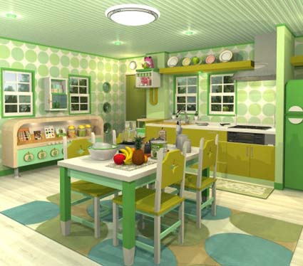 Fruit Kitchens: Green Apple