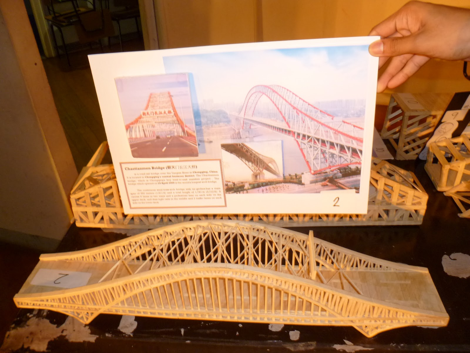 Model Popsicle-Stick Bridges of the Bridges in Asia