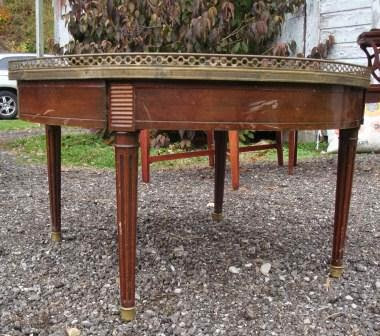 vintage, updated table, painted furniture, mirror, mosaic, updated, upcycled