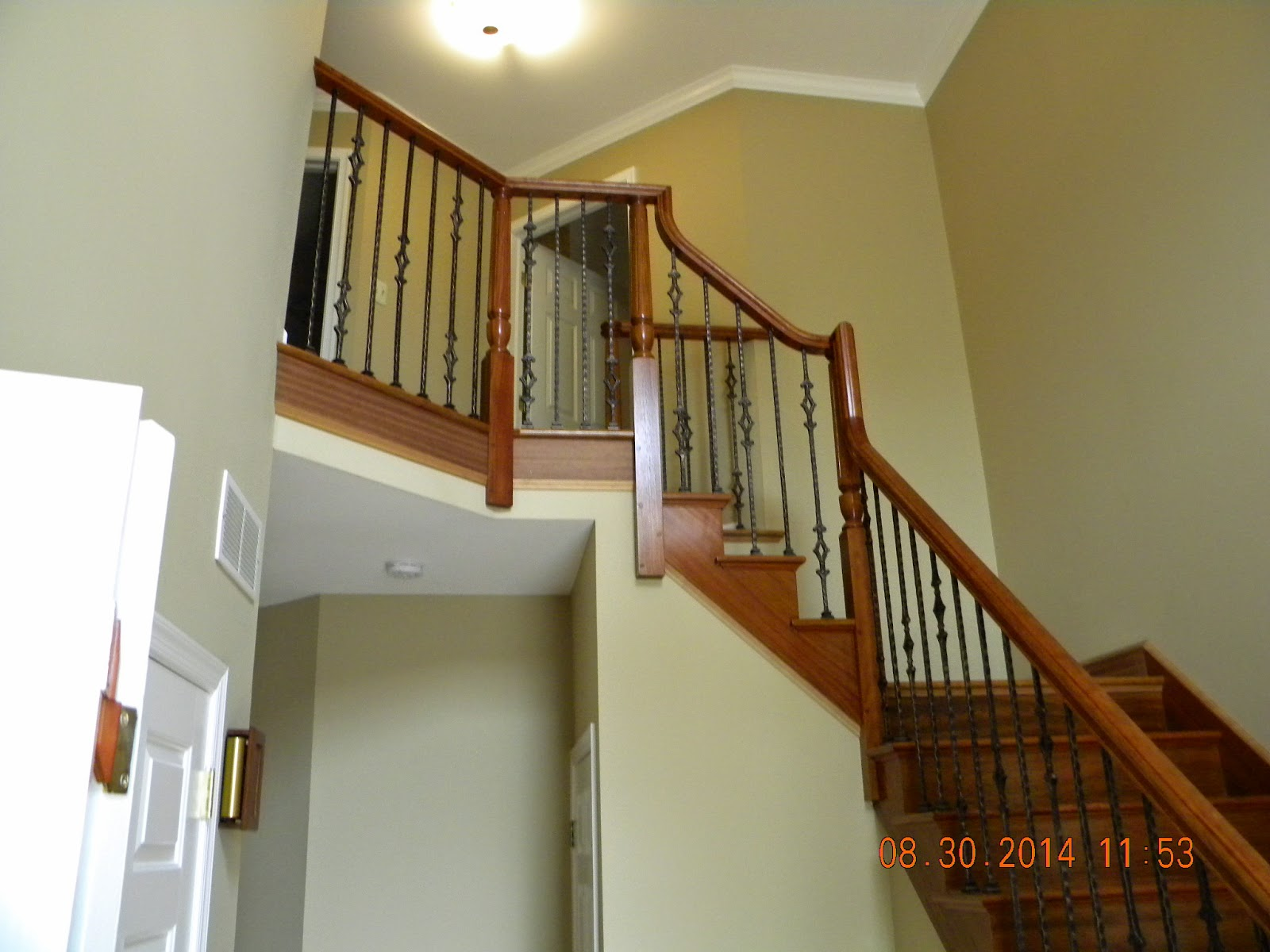 New Wood Stair With Iron Balusters Ambler PA