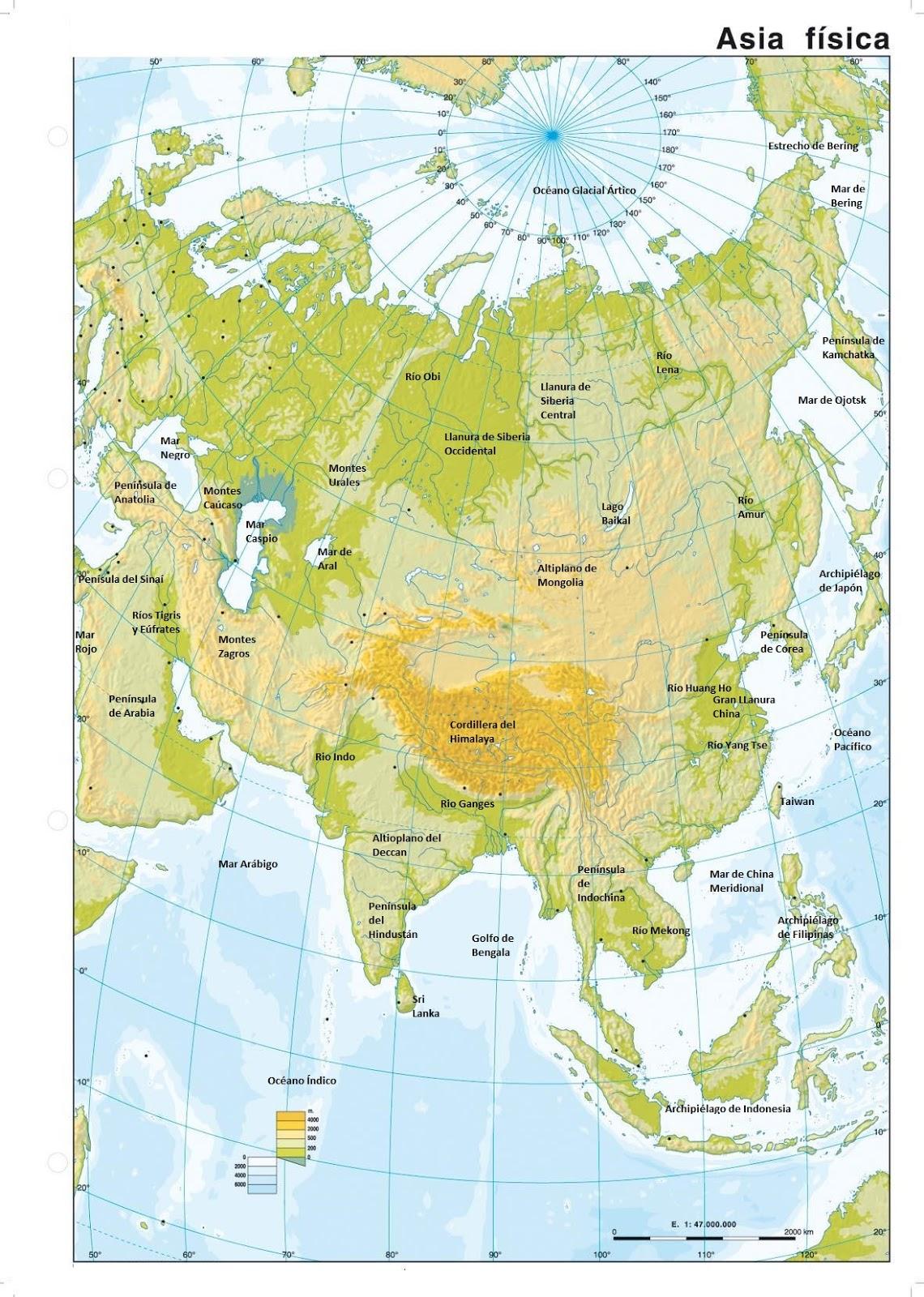 mi blog de CCSS Tema 3 El relieve de Asia y Oceania