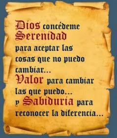 Dios condédeme Serenidad