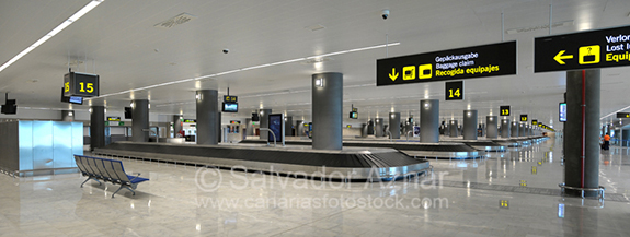 Muelles de carga en aeropuerto