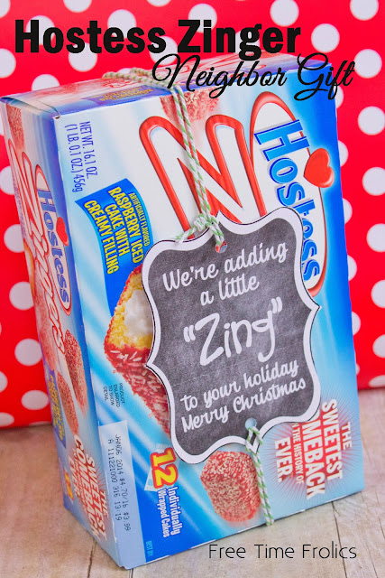 Hostess Zinger neighbor gift via www.freetimefrolics.com #hostess #neighborgift