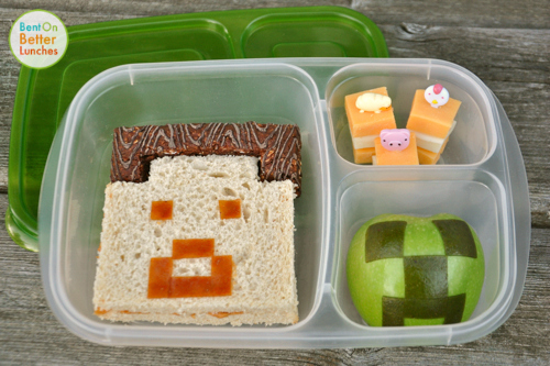 MineCraft bento school lunch in EasyLunchboxes