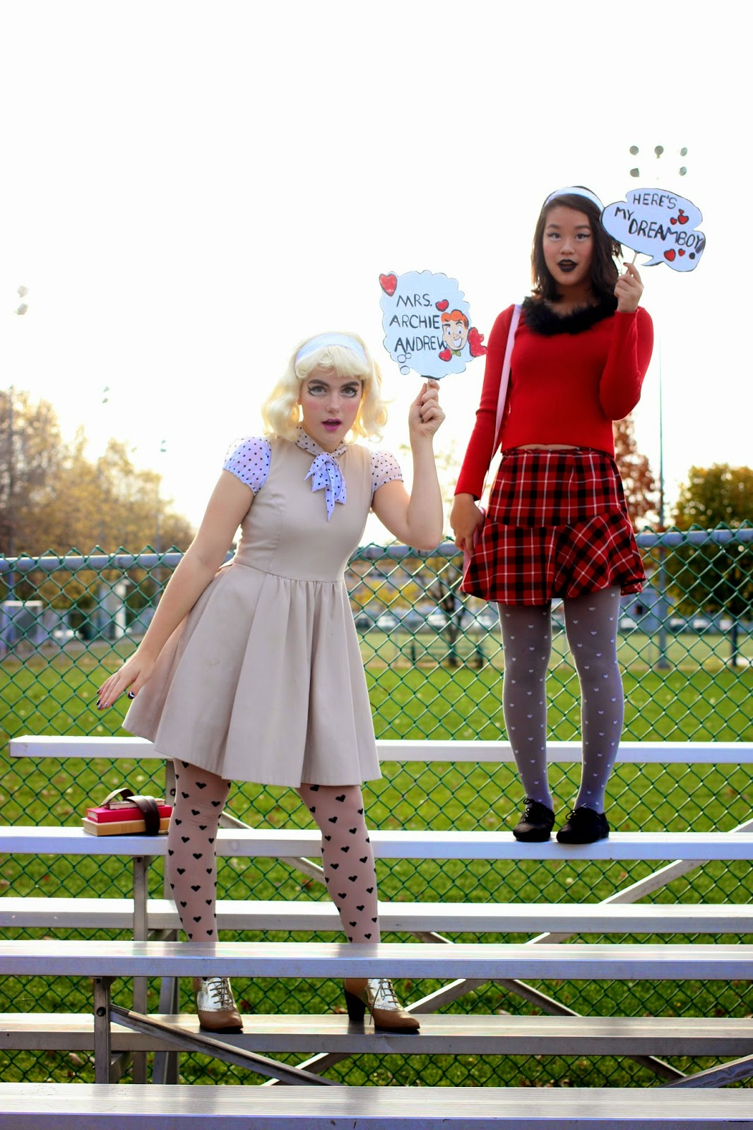 betty and veronica halloween costume, original halloween costume, couple halloween costume, archies girls