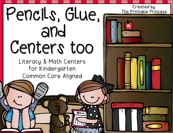 http://www.teacherspayteachers.com/Product/Pencils-Glue-and-Centers-Too-Back-to-School-Centers-for-Kindergarten-CCSS-763710