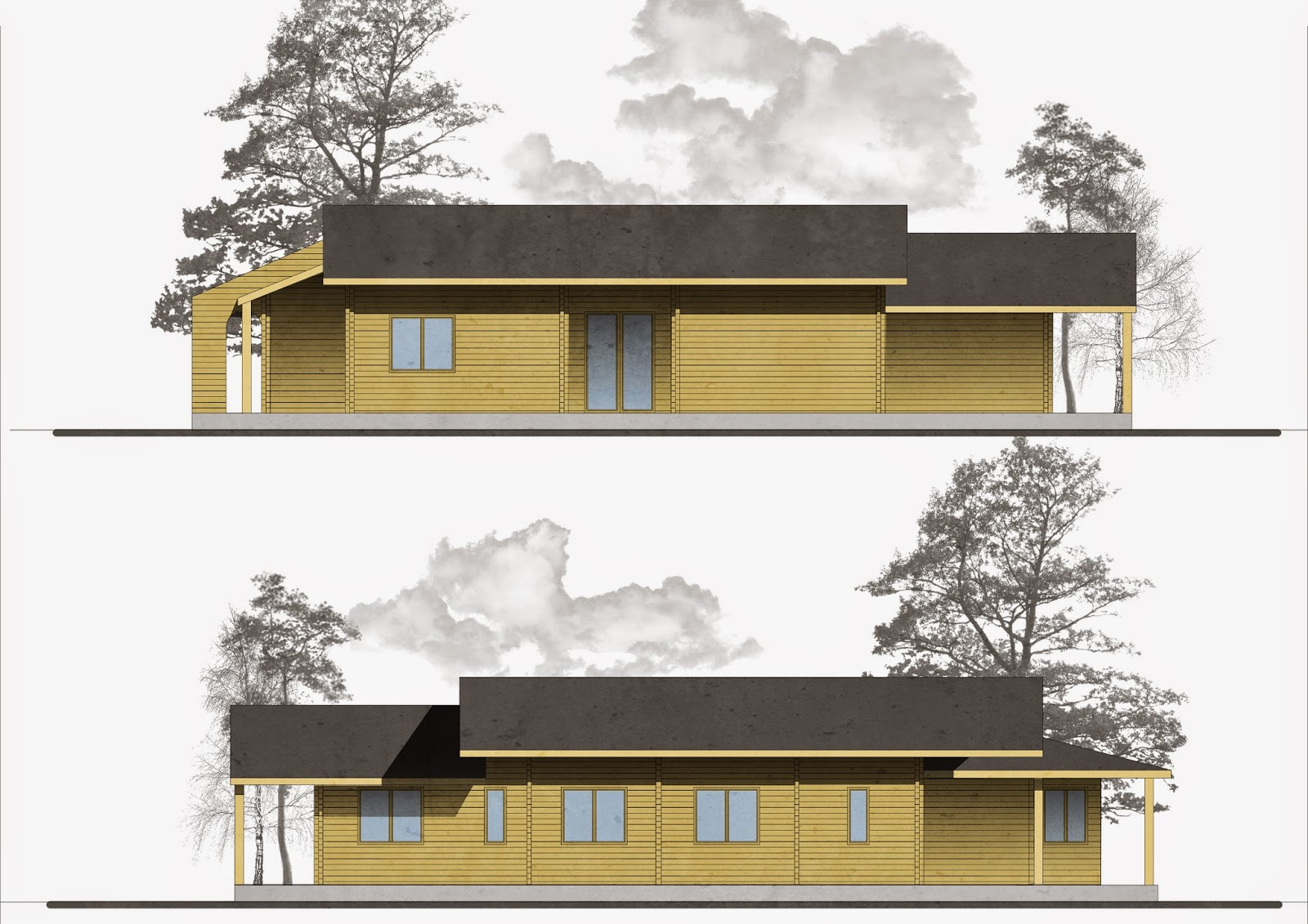 Progetti di case in legno casa 178 mq porticati 75 mq - Progetto casa 75 mq ...