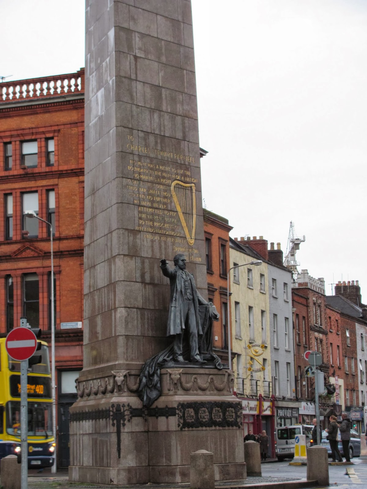 Parnell Monument on O'Connell Street Dublin