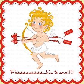 Ilustração para cartão de Dia dos Namorados