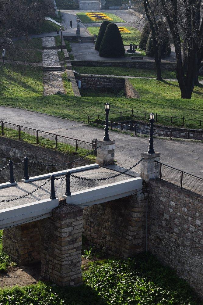 Kalemegdan - pogled sa terase pored Pobednika