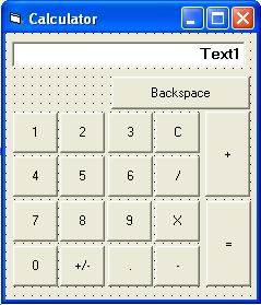 Program Calculator Pada Visual Basic