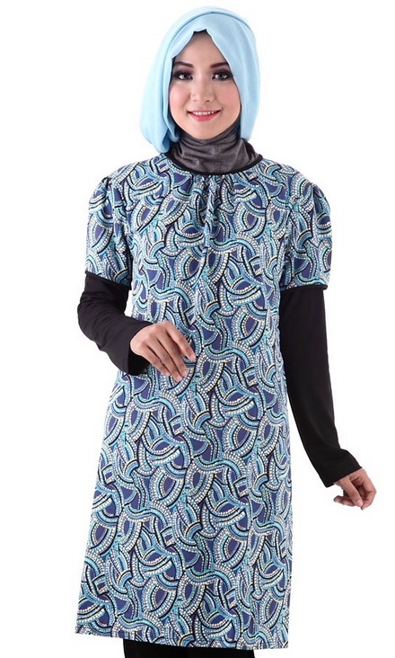Gambar Baju Batik Muslim Model Terbaru
