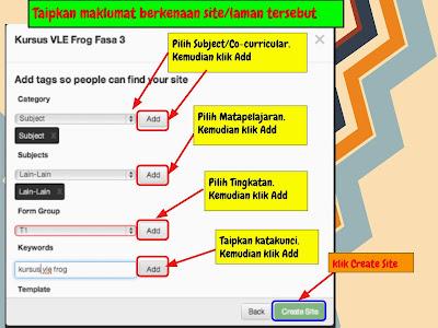 FROG VLE] CARA BINA SITE | Cikgu Fadzil