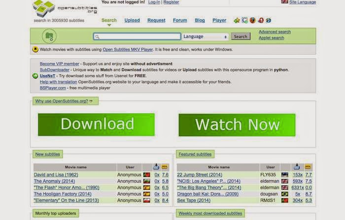 how to download subtitles from website
