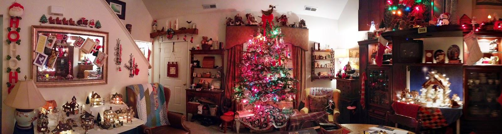 The House That Threw-Up Christmas via foobella.blogspot.com