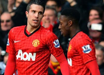 Robin Van Persie Danny Welbeck Manchester United 2013/2014