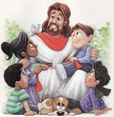 Deixai vim a mim  as criancinhas, porque delas é o reino dos céus.