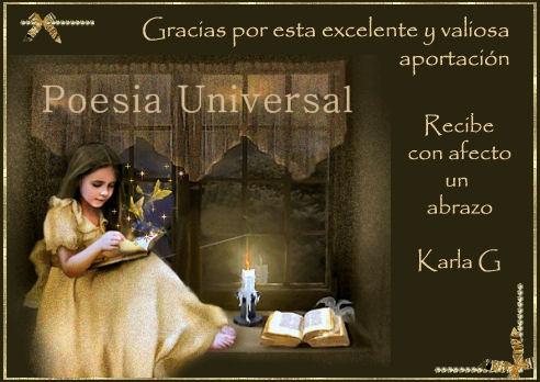 DISTINCION DEL FORO POESIA UNIVERSAL-MEXICO