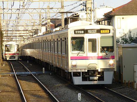 京王電鉄 準特急 京王八王子行き5 7000系新幕式
