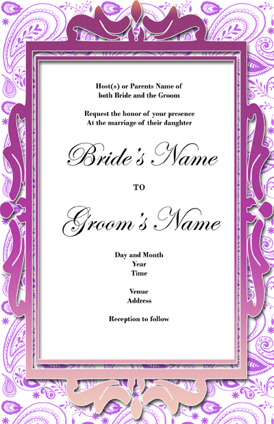 Wedding Invitation Design 08