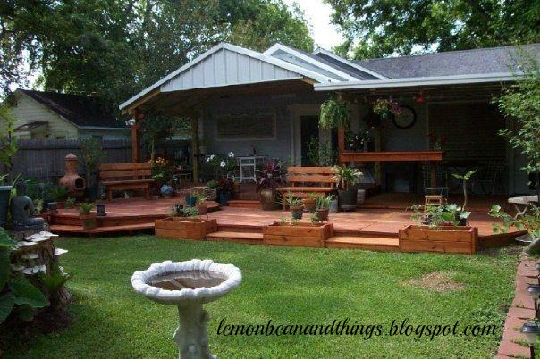 this was done six years ago but it is still as pretty today as it was back then u0026 i love looking at this photo i also have a few more plants - Backyard Before And After