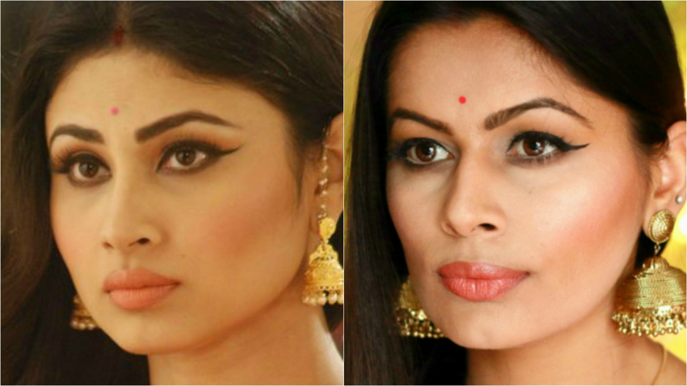 Mouni roy shivanya naagin inspired look indian makeup guru i was requested to do mauni roys makeup look from tv series naagin shivanya so i tried my best and did this look i was overwhelmed to see the response baditri Image collections