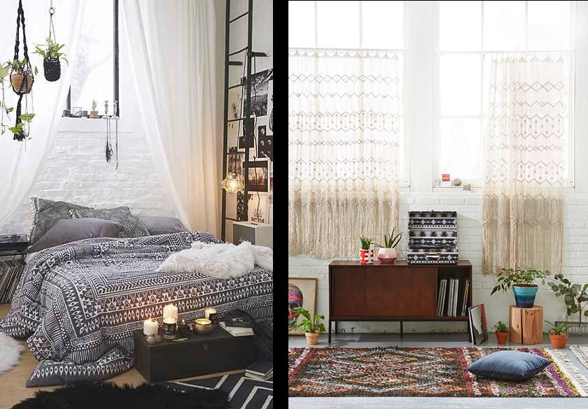 la fabrique d co comment d corer dans un style boh me. Black Bedroom Furniture Sets. Home Design Ideas
