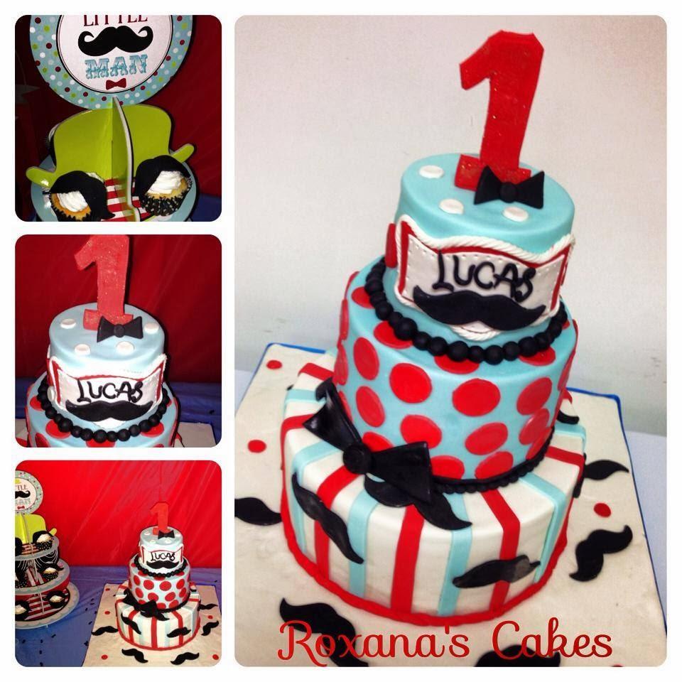 Baking With Roxanas Cakes 1st Birthday Cake Cupcakes Little Man