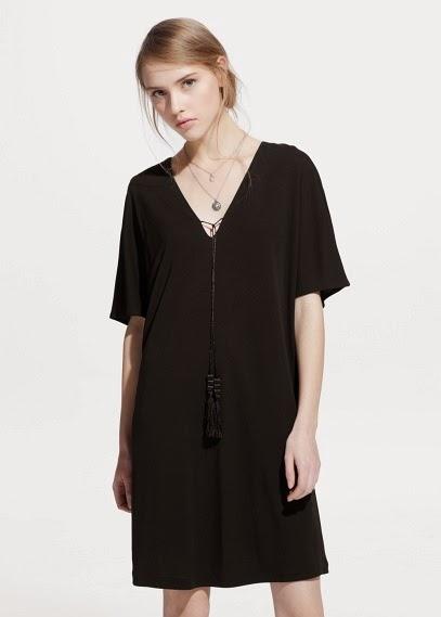 Mango 2015 Elbise Modelleri  salaş tarz bol kesim elbise, kısa elbise, yazlık elbise , siyah renk elbise