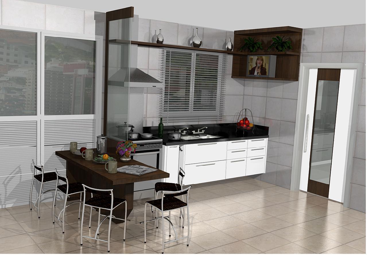 PROJETOS (11) 3976 8616: cozinha planejadas pequenas decorada #5D4A40 1279 888