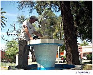 Se repara fuente de agua