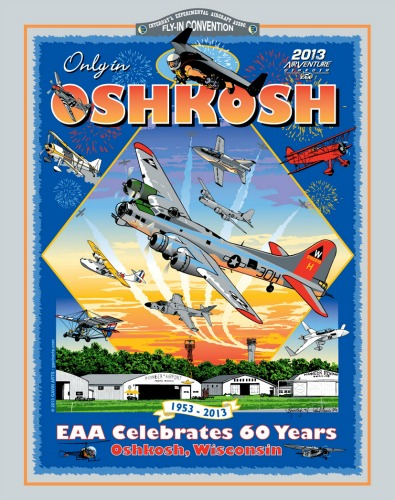 2013 EAA Oshkosh AirVenture T-Shirt Design by Kimberleigh and Paul Gavin