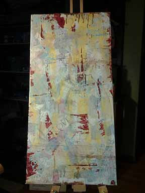 garbage painting, mixed media, Sue Allemand, step by step tutorial